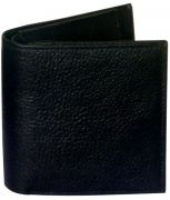 Sondagar Arts Black Long Bi Fold Mens Leather Wallet