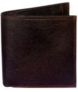 Sondagar Arts Brown Long Bi Fold Mens Leather Wallet
