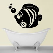 Decor Kafe Decal Style Fish And Bubbles Small Wall Sticker
