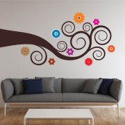 Decor Kafe Tree On Side Wall Decal  DKHMS0105
