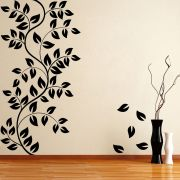 Decor Kafe Decal Style Leaf Floral Wall Sticker
