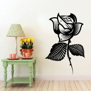 Decor Kafe Decal Style Style Rose Flower Sticker