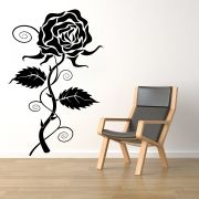 Decor Kafe Decal Style Rose Wall Sticker