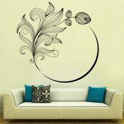 Decor Kafe Decal Style Flower Swirl Wall Sticker
