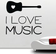 Decor Kafe Music I Love Music Wall Decal - DKHS0441