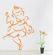 Decor Kafe Decal Style Ganesha Wall Sticker