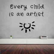Decor Kafe Decal Style Child Is An Artist Small Wall Sticker