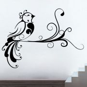 Decor Kafe Decal Style Creative Bird Medium Wall Sticker
