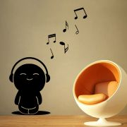 Decor Kafe Decal Style Toy Music Notes Small Wall Sticker