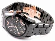 Armani Round Black Resin Watch For Men_code-ar1410
