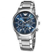 Armani Round Blue Metal Watch For Men_code-ar2448