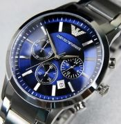 Armani 2448 Blue And Silver Watch For Men