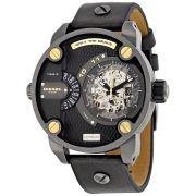 Diesel Little Daddy Automatic Skeleton Men's Leather Strap Watch