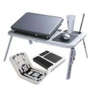 Millenium E Table - Foldable & Portable Laptop Stand With 2 USB Cooling Fan