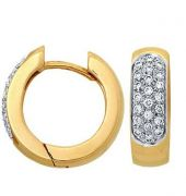 Sheetal Diamonds 0.60tcw Real Round Diamond Hoop Earring E0080-14k