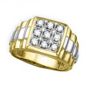 Sheetal Diamonds 0.54tcw Real Round Diamond Men's Wear Ring R0072-14k
