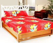Welhouse India 3d Printed 1 Double Bedsheet With 2 Pillow Covers (code - 3d_db-002)