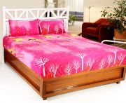 Welhouse India 3d Printed 1 Double Bedsheet With 2 Pillow Covers (code - 3d_db-005)