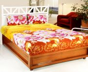 Welhouse India 3d Printed 1 Double Bedsheet With 2 Pillow Covers (code - 3d_db-006)