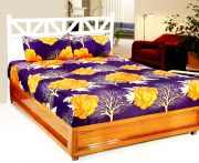 Welhouse India 3d Printed 1 Double Bedsheet With 2 Pillow Covers (code - 3d_db-009)