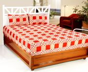 Welhouse India 3d Printed 1 Double Bedsheet With 2 Pillow Covers (code - 3d_db-010)