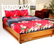 Welhouse India 3d Printed 1 Double Bedsheet With 2 Pillow Covers (code - 3d_db-030)