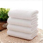 Welhouse India Plain White Face Towel Set Of 4