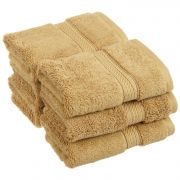 Welhouse India 100% Cotton Face Towel Light Brown Set Of 6 Fct_n-005