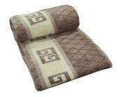 Welhouse India Beige & Brown Cris-cross Design  Design Double Blanket