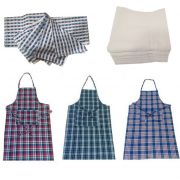Welhouse India Kitchen Combo Of 3 Aprons, 6 Face Towels And 6 Napkins.