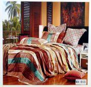 Welhouse India 100% Cotton Stripes King Size Double Bed Sheet Set