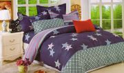 Welhouse India Stars In The Blue Double Bed Sheet With 2 Pillow Covers