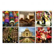 10 Am India Coasters -  Acrylic - ( Set Of 6 )
