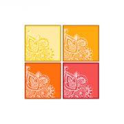 10 Am Paisley Coasters  Acrylic - ( Set Of 4 )