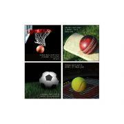 10 Am Sports Coasters -  Acrylic- ( Set Of 4 )