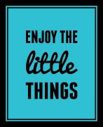 10 Am Enjoy The Little Things Framed Wall Art With Glass