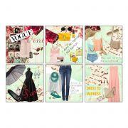 10 Am Fashion Coasters - Acrylic - ( Set Of 6 )