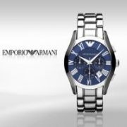 Imported Emporio Armani Ar1635 Stainless Steel Blue Dial Men Wrist Watch