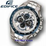 Casio 554 White And Blue Dial With Silver Chain Watch For Men