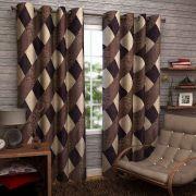 Sai Arpan's Brown Solid Door Curtain Set Of 2