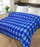 Sai Arpan's Printed Double Bed AC Blanket-Blue