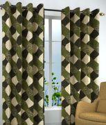 Sai Arpan's Green Box Printed Door Curtain Set Of 2