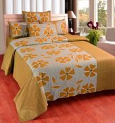 Sai Arpan's Cotton Double Bed Sheet With Pillow Covers