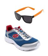 Lotto Runing Blue Sport Shoes With Lotto Orange Wayfarer