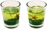 Zarsa Glass Gel Set Candle(Green, Pack Of 2)