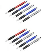 L78 - Metal Look Pen With Stylus And Grip