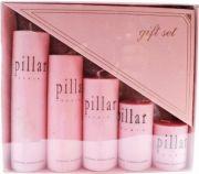 Zarsa Rose Pillar Candle(Pink, Pack Of 5)