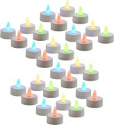 Zarsa LED Tea Light Candle(Multicolor, Pack Of 40)