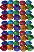 Zarsa Decorative Tea Light Gel Candle(Multicolor, Pack Of 40)