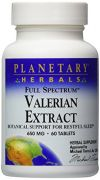 Planetary Herbals Full Spectrum Valerian Extract Tablets, 650 Mg, 60-Count Bottles (Pack Of 2)
